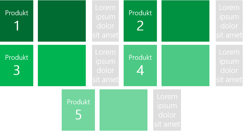 PowerPoint Vorlage: Produktvorstellung mit Rechteck und Bildern