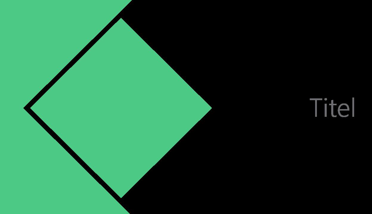 PowerPoint Vorlage: Titelfolie mit zusammengeführten Formen