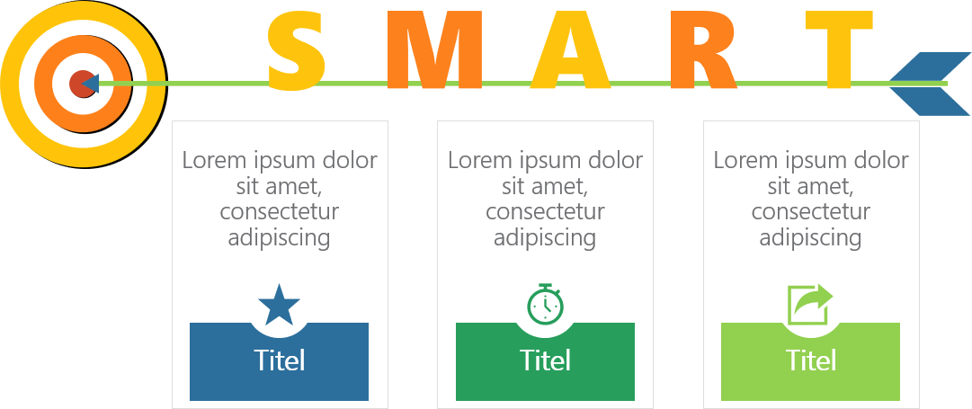 PowerPoint Vorlage: Smart-Goals mit Zielscheibe
