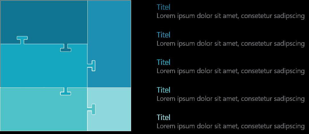 PowerPoint Vorlage: Puzzle mit abgerundeten Rechtecken