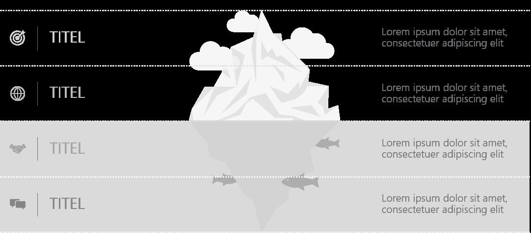 PowerPoint Vorlage: Eisberg-Modell
