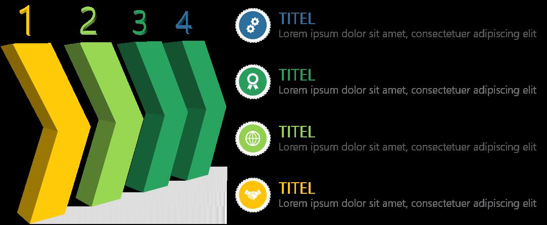 PowerPoint Vorlage: 3D-Pfeile