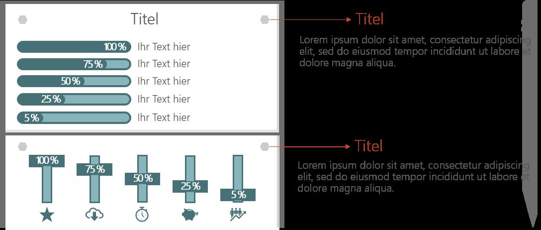 PowerPoint Vorlage: Dashboard mit Schieberegler