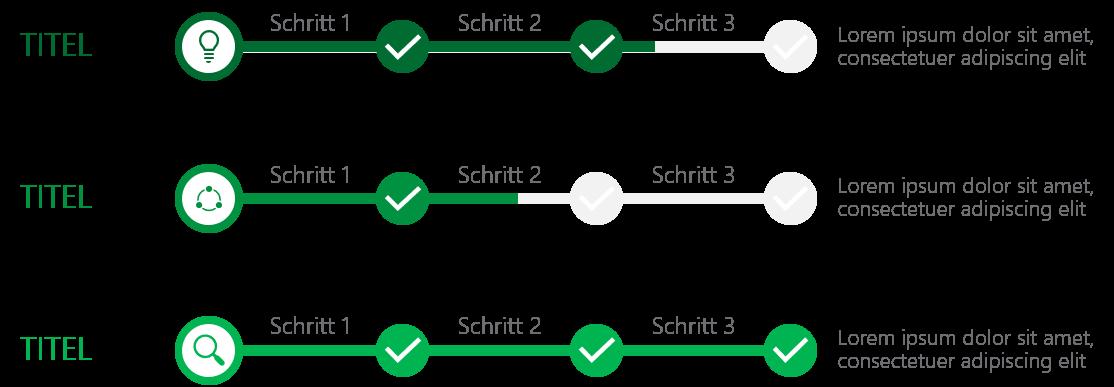 PowerPoint Vorlage: Statusanzeige in Schritten