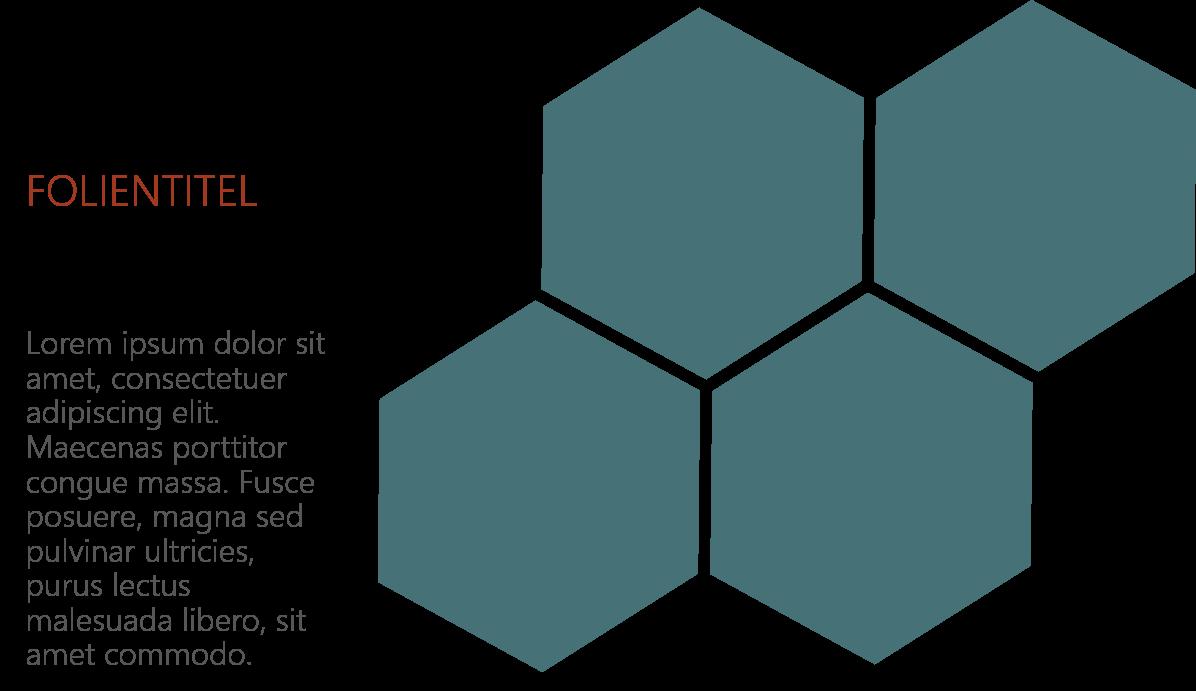 PowerPoint Vorlage: Titelfolie im Waben-Look