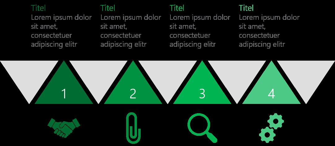 PowerPoint Vorlage: Horizontale Timeline mit Dreiecken