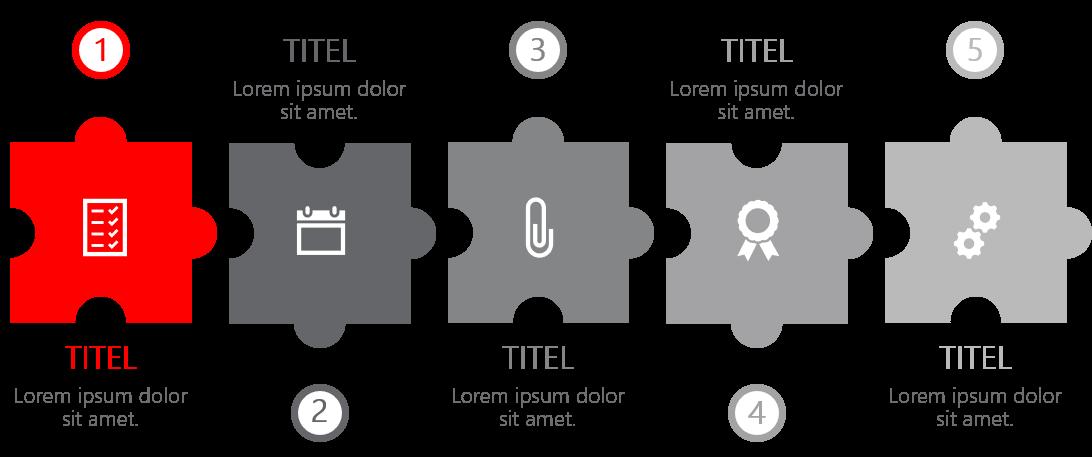 PowerPoint Vorlage: Puzzle als Prozess