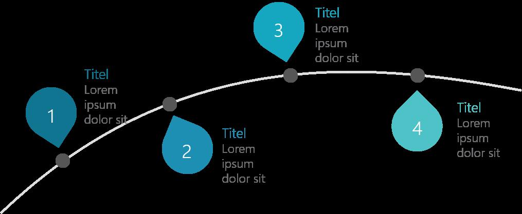 PowerPoint Vorlage: Timeline mit Tropfen
