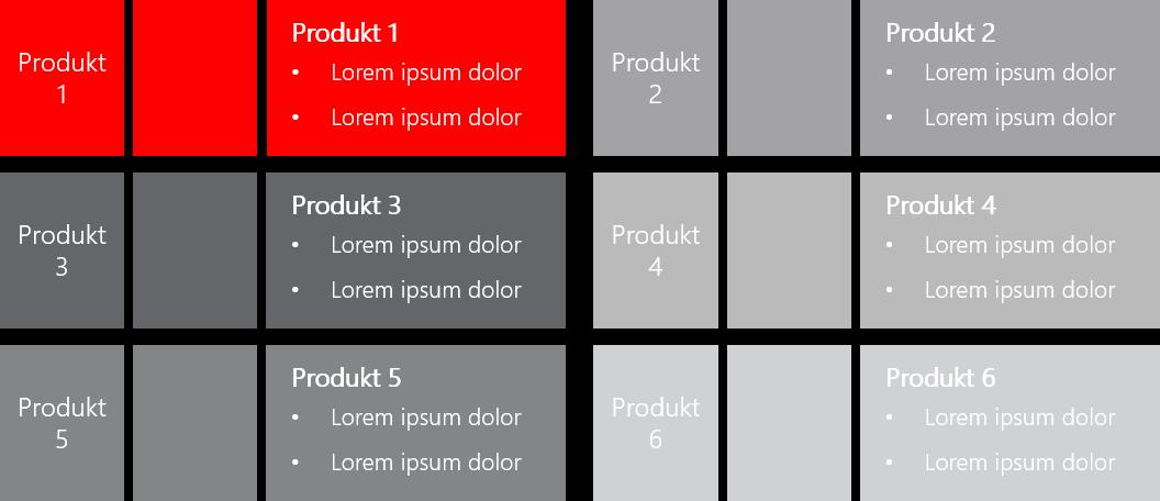PowerPoint Vorlage: Produktvorstellung im Kachel-Look mit Bildern