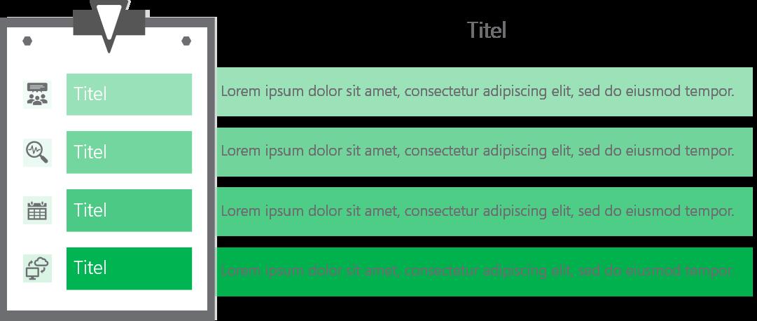 PowerPoint Vorlage: Aufgaben auf Klemmbrett