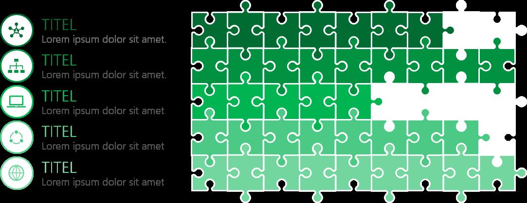 PowerPoint Vorlage: Puzzle als Statusanzeige