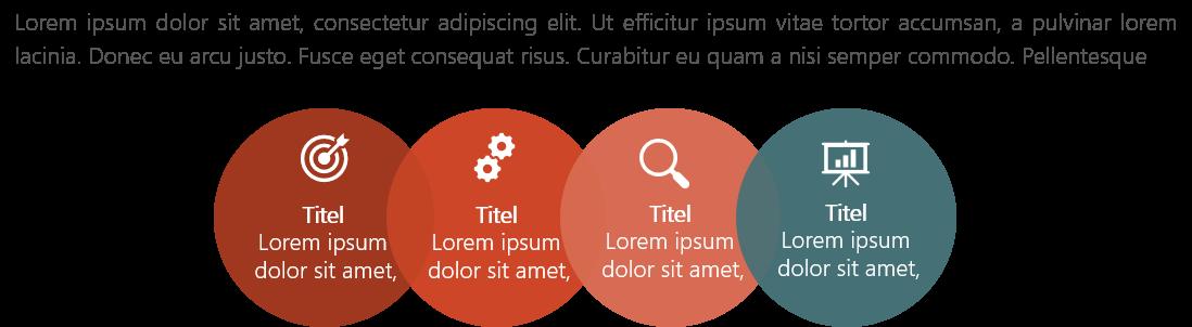 PowerPoint Vorlage: Services mit ineinandergreifenden Kreisen