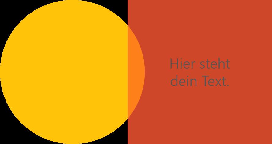 PowerPoint Vorlage: Kernaussagen mit verschiedenen Formen