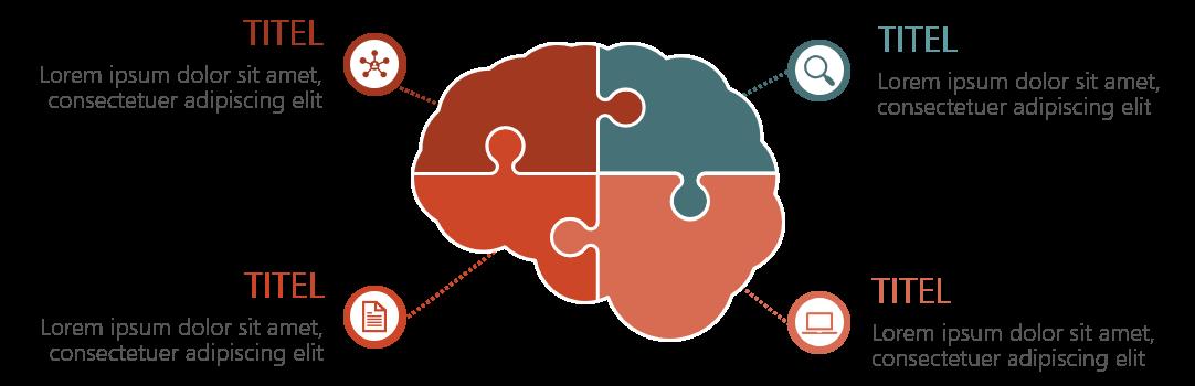 PowerPoint Vorlage: Puzzle-Gehirn