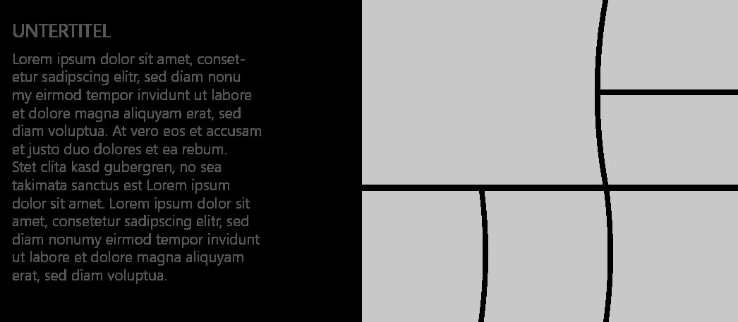 PowerPoint Vorlage: Bild-Collage mit abgerundeten Linien