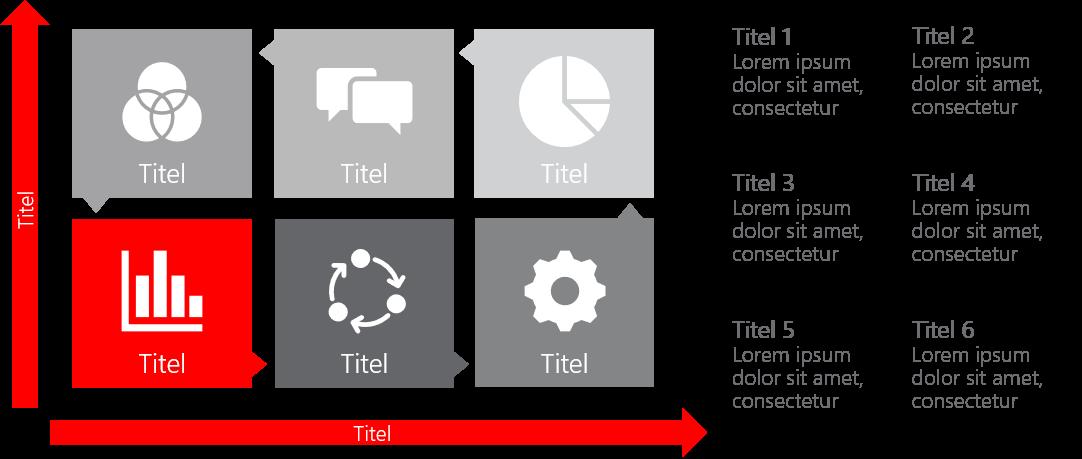 PowerPoint Vorlage: Matrix mit Piktogrammen
