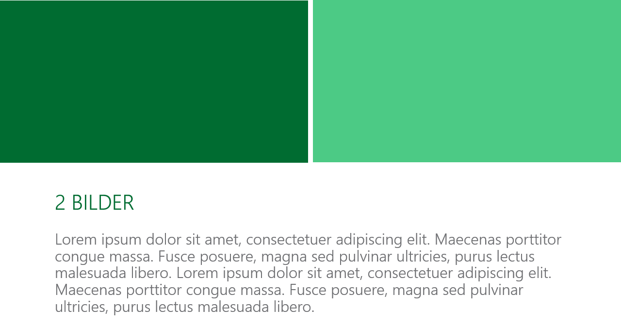 PowerPoint Vorlage: Titelfolie mit 2 Bildern