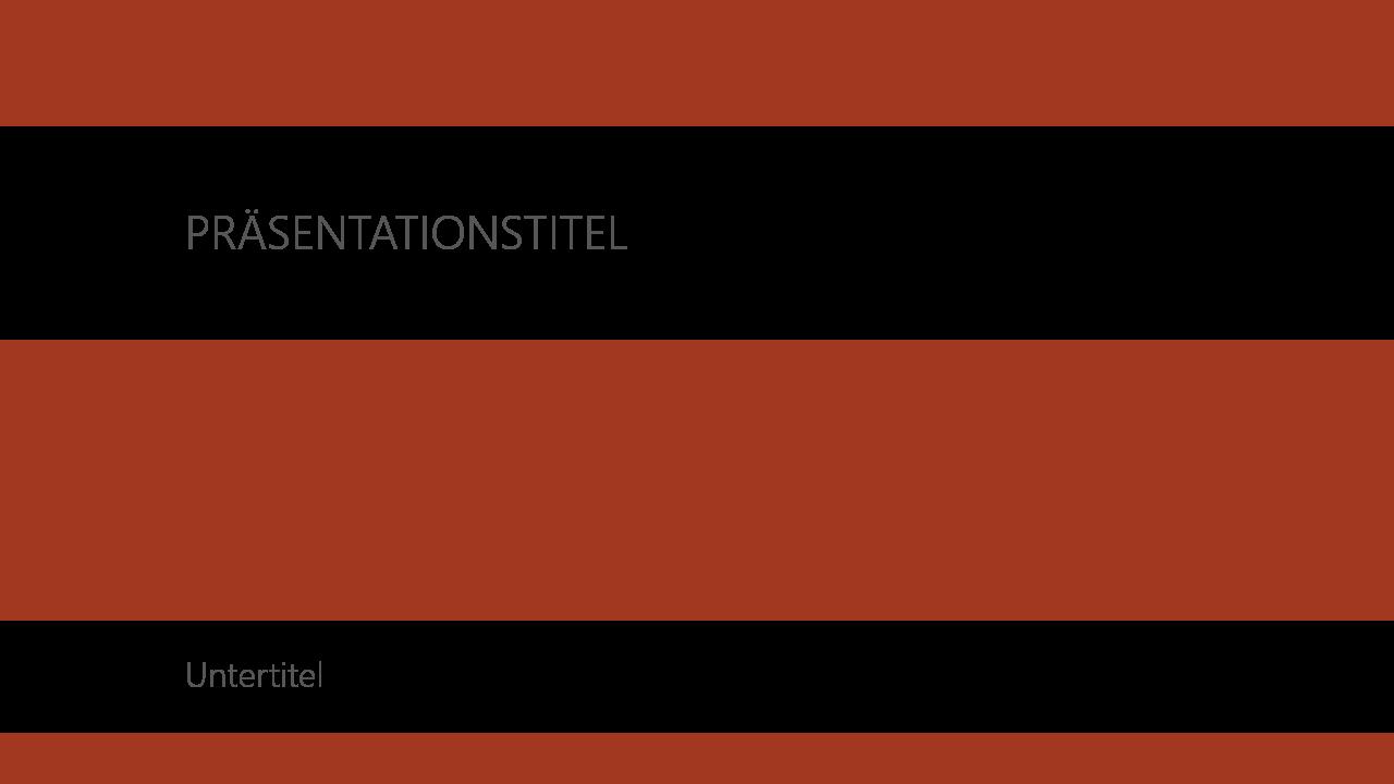 PowerPoint Vorlage: Titelfolie mit Bild im Hintergrund