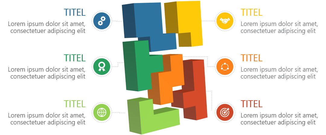 PowerPoint Vorlage: 3D-Puzzle