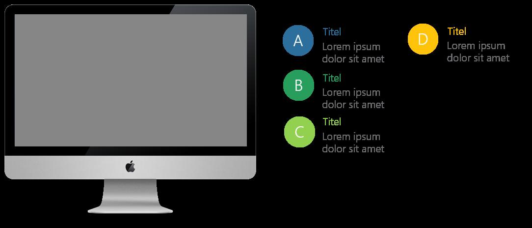 PowerPoint Vorlage: Auflistung mit Mac Links