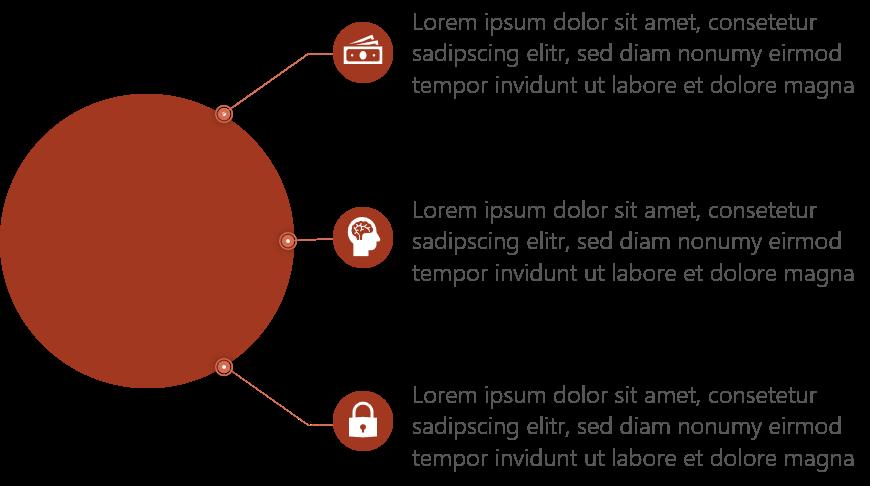 PowerPoint Vorlage: Aufzählungen mit verbindenden Linien