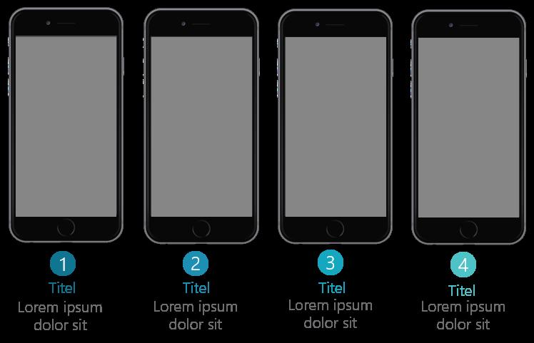 PowerPoint Vorlage: Auflistung mit Smartphone