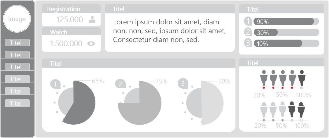 PowerPoint Vorlage: Dashboard mit Statusanzeige