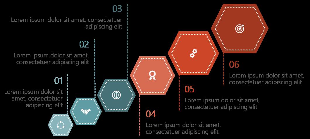 PowerPoint Vorlage: Ranking-Vergleich mit Sechsecken