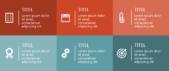 PowerPoint Vorlage: Agenda mit bunten Rechtecken