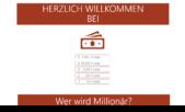 PowerPoint Vorlage: Quiz: Wer wird Millionär?