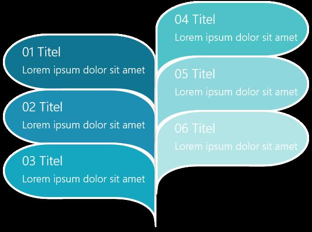 PowerPoint Vorlage: Prozess mit Sprechblasen