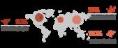 PowerPoint Vorlage: Weltkarte mit hervorhebenden Kreisen