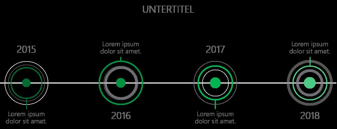 PowerPoint Vorlage: Unternehmens Timeline