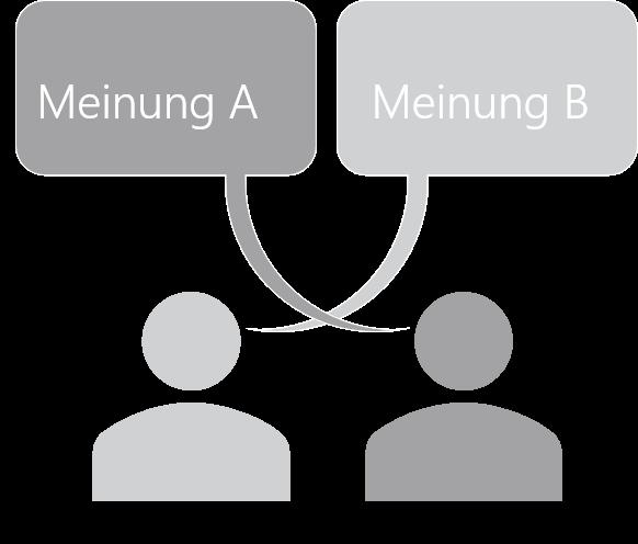 PowerPoint Vorlage: Meinungen gegenüberstellen