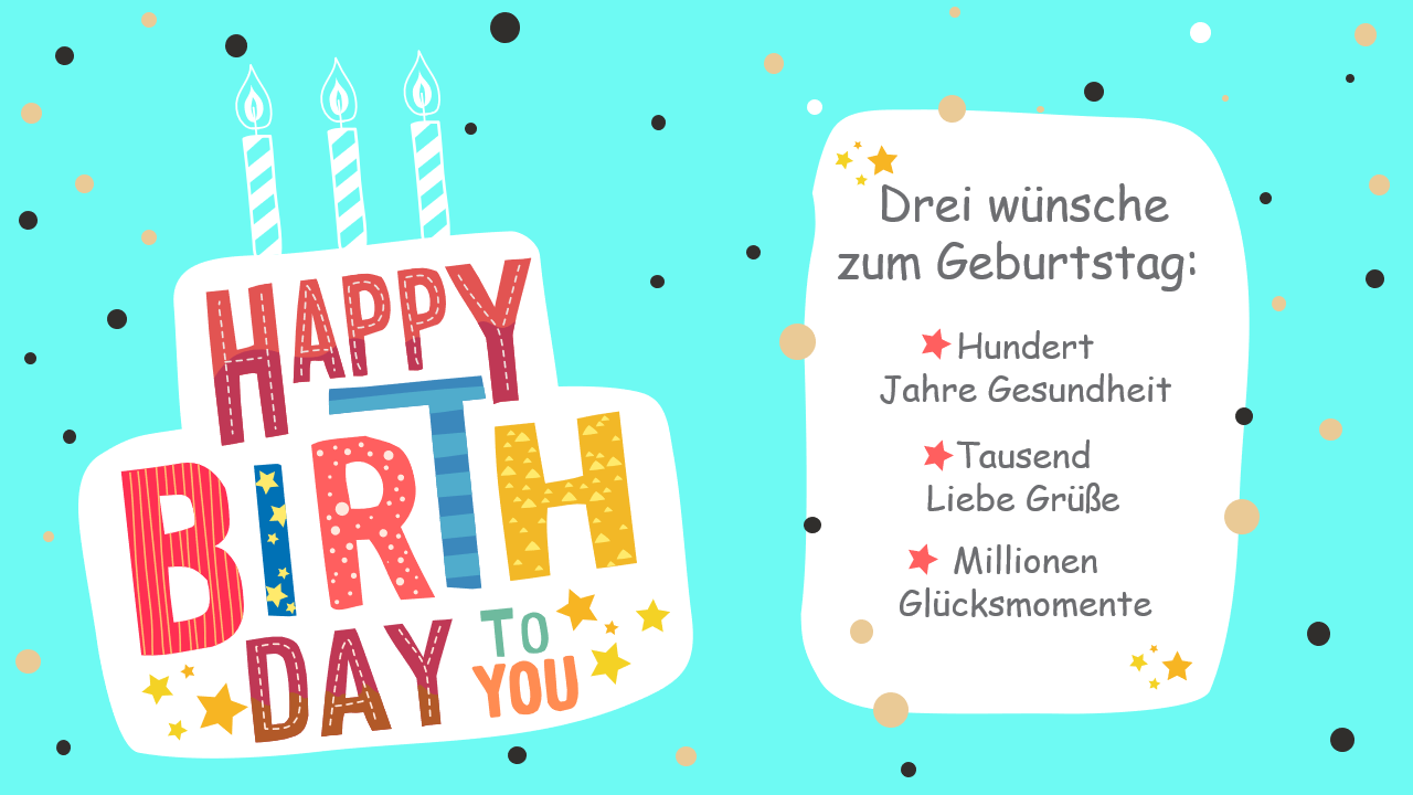 PowerPoint Vorlage: Glückwünsche zum Geburtstag