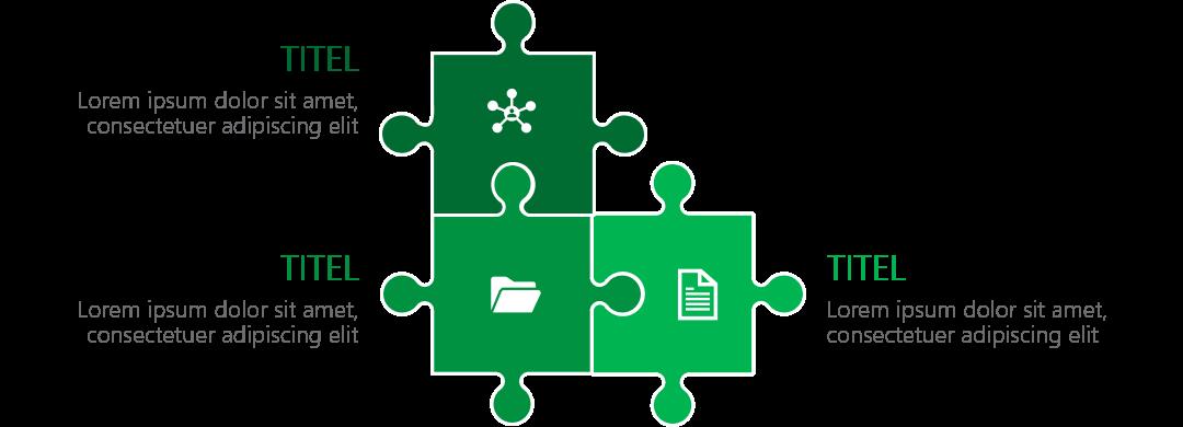 PowerPoint Vorlage: Puzzle als Auflistung