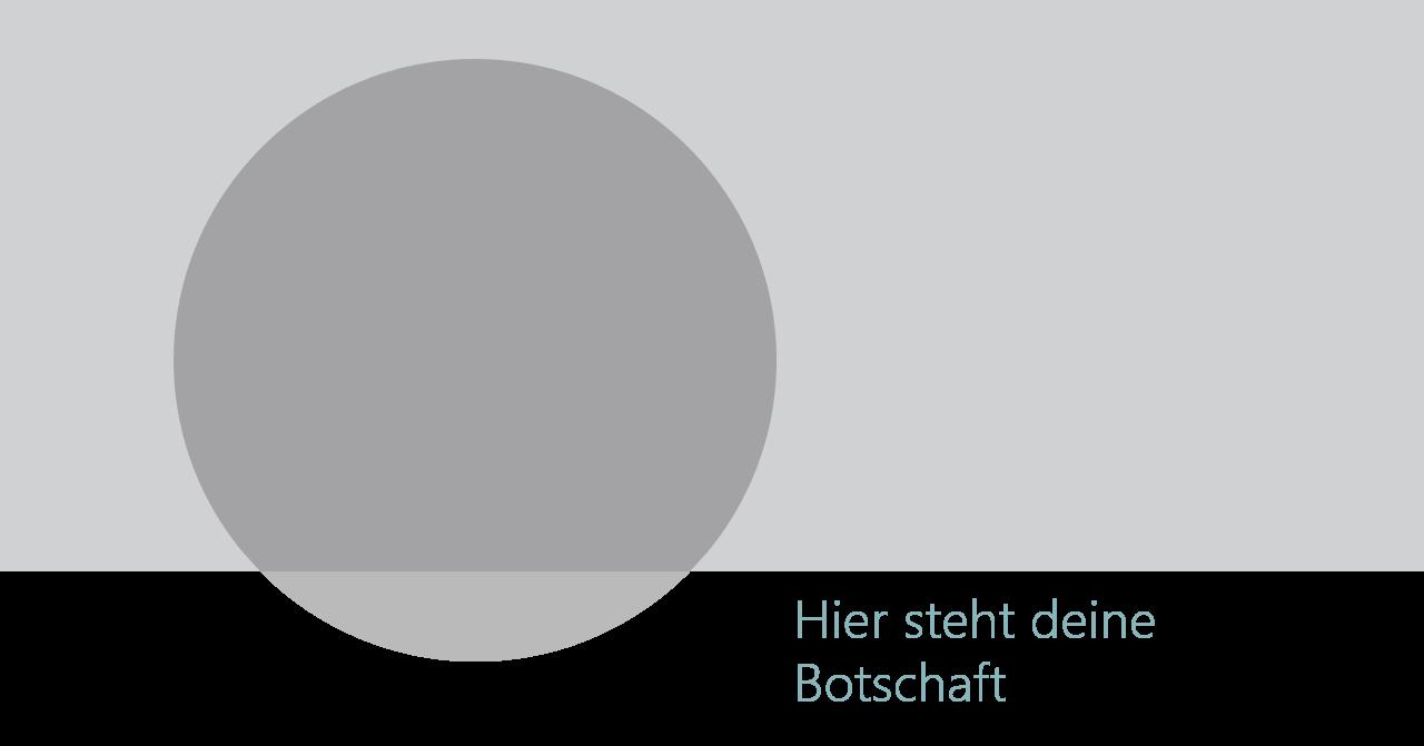 PowerPoint Vorlage: Kernaussagen mit überschneidendem Kreis