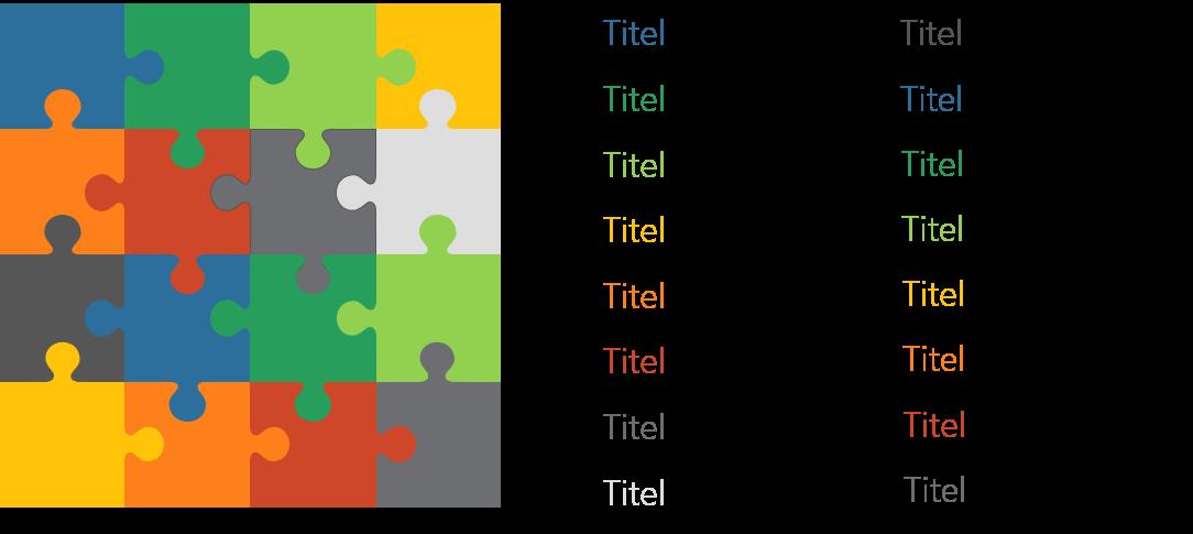 PowerPoint Vorlage: Puzzle im klassischen Stil