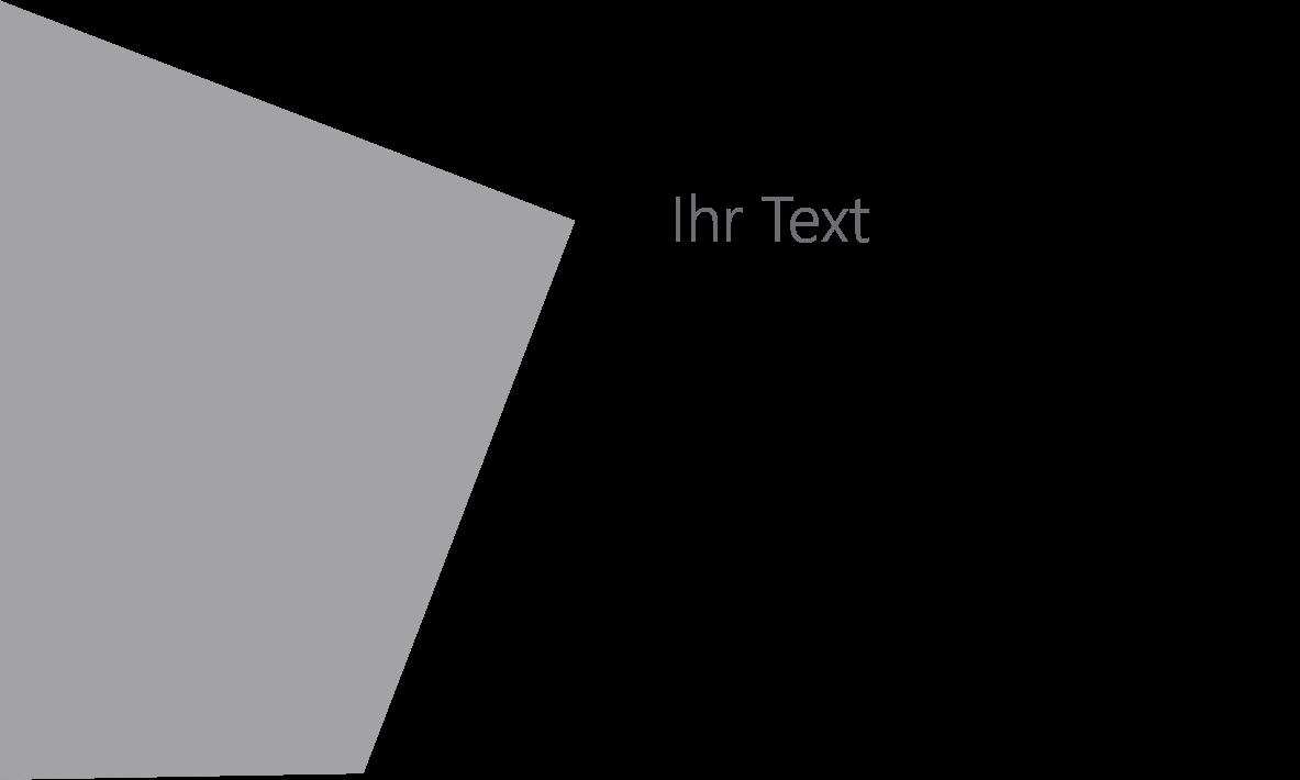 PowerPoint Vorlage: Titelfolie mit außergewöhnlichen Formen