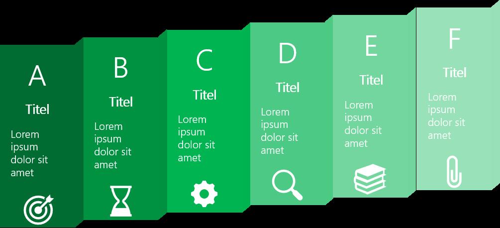 PowerPoint Vorlage: Prozess im Faltblatt-Look