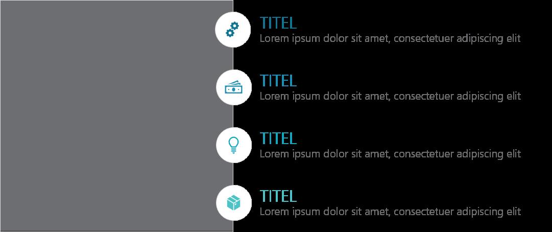 PowerPoint Vorlage: Produkt- und Service-Vorstellungen mit Piktogrammen