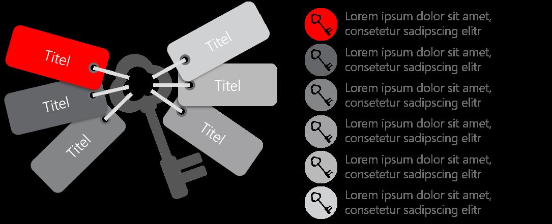 PowerPoint Vorlage: Schlüsselfaktoren