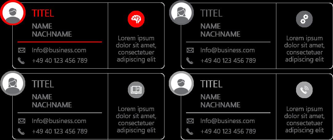 PowerPoint Vorlage: Teamvorstellung mit Visitenkarten