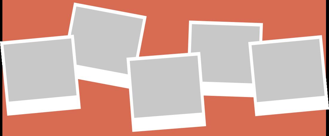 PowerPoint Vorlage: Retro-Polaroid Fotos