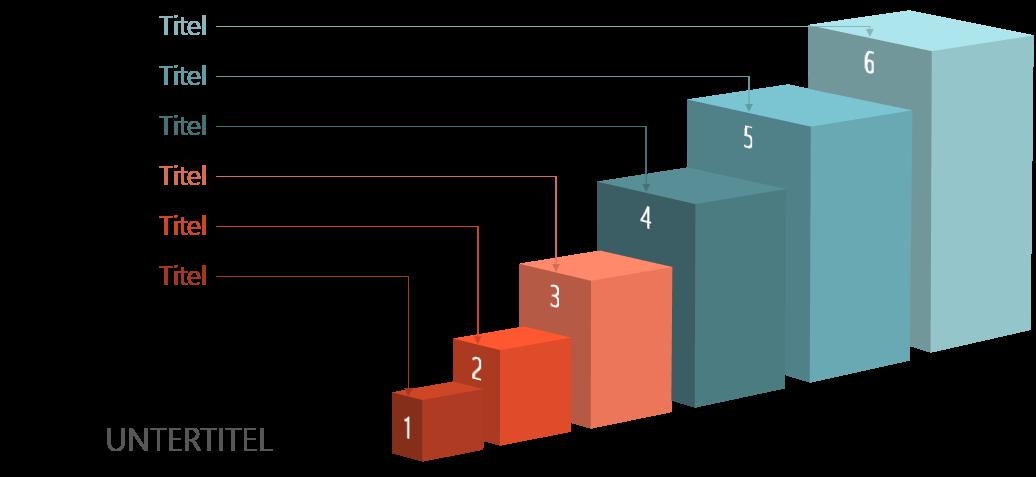 PowerPoint Vorlage: 3D-Quader für Prozesse