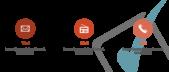 PowerPoint Vorlage: Auflistung mit Checkliste im Hintergrund