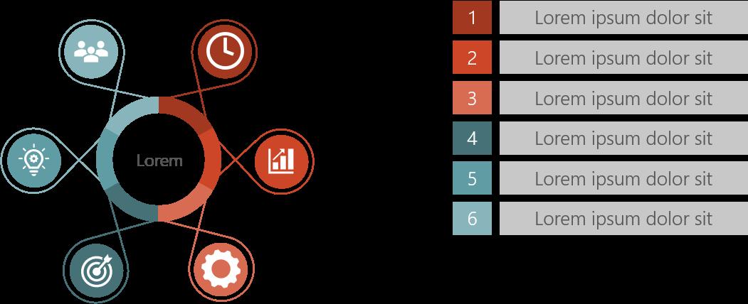 PowerPoint Vorlage: Kreislauf-Prozess mit Zusatzinfo