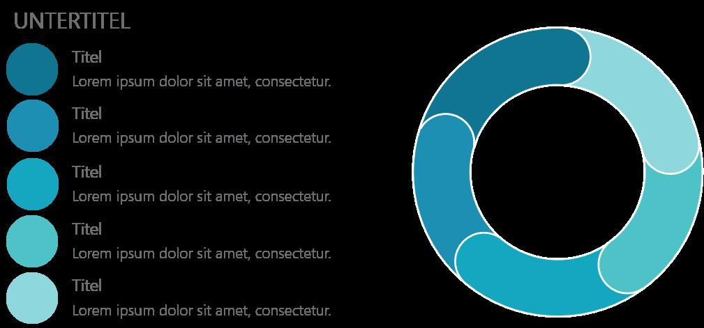 PowerPoint Vorlage: Auflistung mit Ringdesign