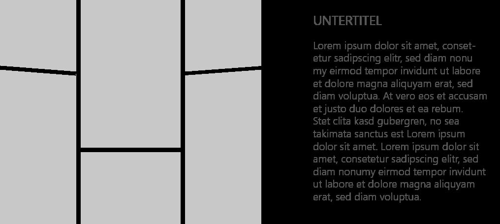 PowerPoint Vorlage: Bild-Collage mit schrägen Linien