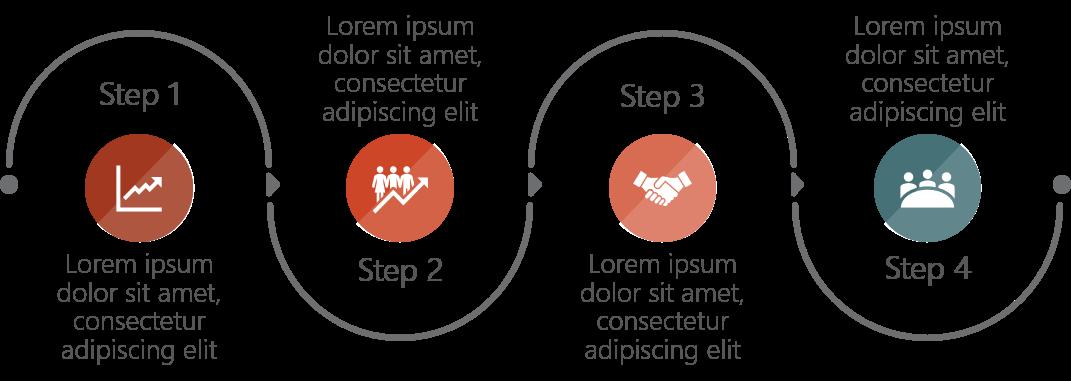 PowerPoint Vorlage: Prozess im runden Design